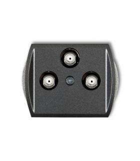 TREND Mechanizm gniazda multimedialnego 3F DATA (Vectra) Grafitowy Karlik 11GMV