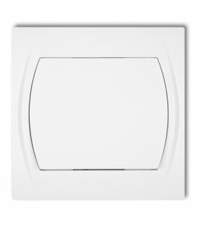 LOGO Łącznik krzyżowy podświetlany (jeden klawisz bez piktogramu) Biały Karlik LWP-6L.1