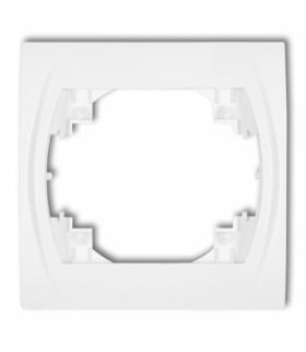 LOGO Ramka pozioma pojedyncza Biały Karlik LRH-1