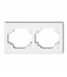 LOGO Ramka pozioma podwójna Biały Karlik LRH-2
