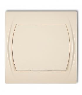 LOGO Łącznik schodowy podświetlany (jeden klawisz bez piktogramu) Beżowy Karlik 1LWP-3L.1