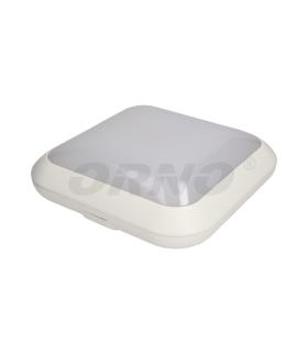 Plafon MONSUN LED 60 SMD2835, biały, IP66, klosz poliwęglan mleczny