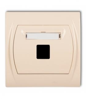 LOGO Gniazdo multimedialne pojedyncze bez modułu (standard Keystone) Beżowy Karlik 1LGM-1P