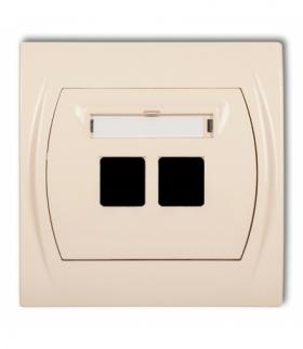 LOGO Gniazdo multimedialne podwójne bez modułu (standard Keystone) Beżowy Karlik 1LGM-2P