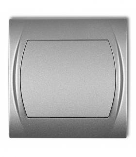 LOGO Łącznik schodowy (jeden klawisz bez piktogramu) Srebrny metalik Karlik 7LWP-3.1