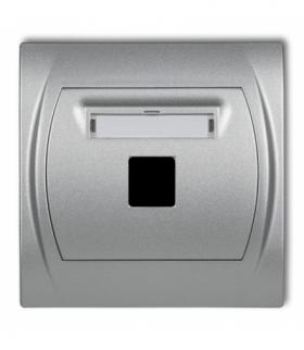 LOGO Gniazdo multimedialne pojedyncze bez modułu (standard Keystone) Srebrny metalik Karlik 7LGM-1P