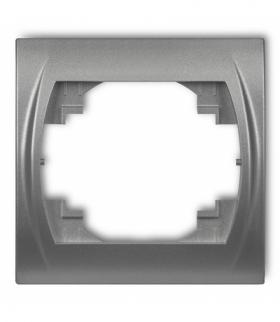LOGO Ramka pozioma pojedyncza Srebrny metalik Karlik 7LRH-1