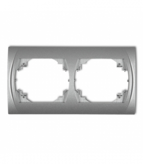 LOGO Ramka pozioma podwójna Srebrny metalik Karlik 7LRH-2