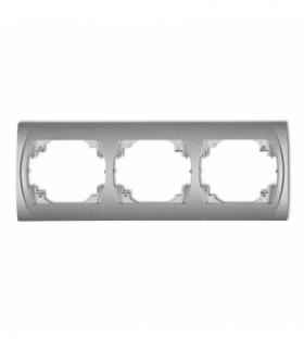 LOGO Ramka pozioma potrójna Srebrny metalik Karlik 7LRH-3