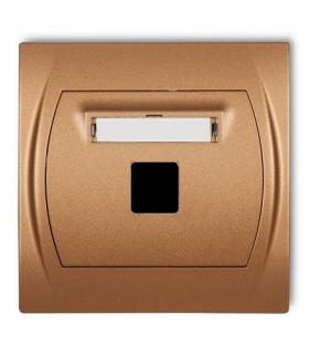 LOGO Gniazdo multimedialne pojedyncze bez modułu (standard Keystone) Złoty metalik Karlik 8LGM-1P