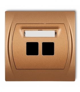 LOGO Gniazdo multimedialne podwójne bez modułu (standard Keystone) Złoty metalik Karlik 8LGM-2P
