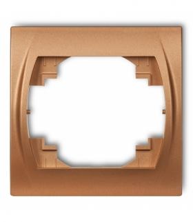 LOGO Ramka pozioma pojedyncza Złoty metalik Karlik 8LRH-1