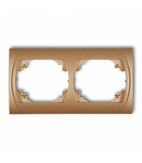 LOGO Ramka pozioma podwójna Złoty metalik Karlik 8LRH-2