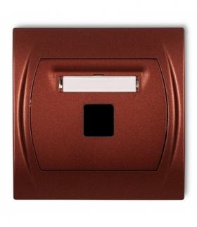 LOGO Gniazdo multimedialne pojedyncze bez modułu (standard Keystone) Brązowy metalik Karlik 9LGM-1P