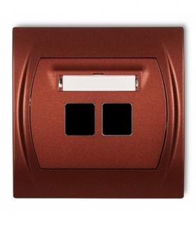 LOGO Gniazdo multimedialne podwójne bez modułu (standard Keystone) Brązowy metalik Karlik 9LGM-2P