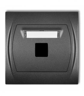 LOGO Gniazdo multimedialne pojedyncze bez modułu (standard Keystone) Grafitowy Karlik 11LGM-1P