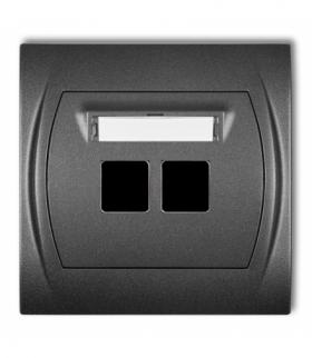 LOGO Gniazdo multimedialne podwójne bez modułu (standard Keystone) Grafitowy Karlik 11LGM-2P