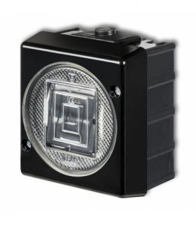 SENIOR Łącznik zwierny światło podświetlany Czarny Karlik 12WHS-5L