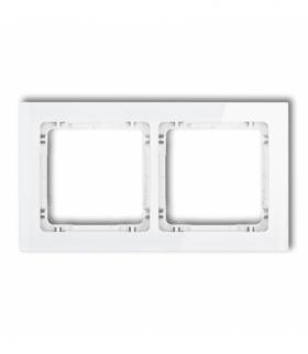 DECO Ramka uniwersalna podwójna - efekt szkła (ramka biała spód biały) Biały Karlik 0-0-DRS-2