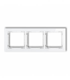 DECO Ramka uniwersalna potrójna - efekt szkła (ramka biała spód biały) Biały Karlik 0-0-DRS-3