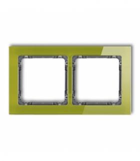 DECO Ramka uniwersalna podwójna - efekt szkła (ramka zielona spód grafitowy) Zielony Karlik 2-11-DRS-2