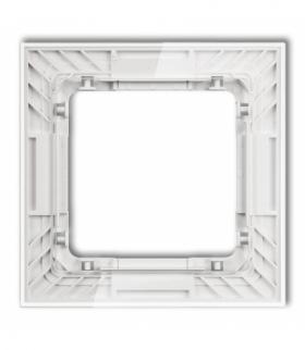 DECO Ramka uniwersalna pojedyncza transparentna DECO Art - efekt szkła (ramka transparentna spód biały) Transparentny Karlik 52-
