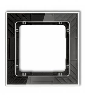 DECO Ramka uniwersalna pojedyncza transparentna DECO Art - efekt szkła (ramka transparentna spód czarny) Transparentny Karlik 52