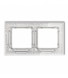 DECO Ramka uniwersalna podwójna transparentna DECO Art - efekt szkła (ramka transparentna spód biały) Transparentny Karlik 52-0-
