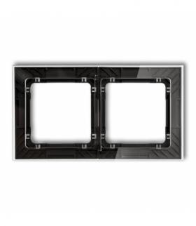 DECO Ramka uniwersalna podwójna transparentna DECO Art - efekt szkła (ramka transparentna spód czarny) Transparentny Karlik 52-1