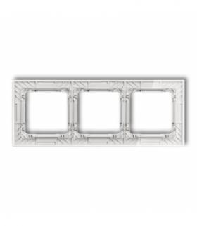 DECO Ramka uniwersalna potrójna transparentna DECO Art - efekt szkła (ramka transparentna spód biały) Transparentny Karlik 52-0-