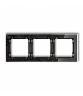 DECO Ramka uniwersalna potrójna transparentna DECO Art - efekt szkła (ramka transparentna spód czarny) Transparentny Karlik 52-1