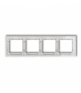 DECO Ramka uniwersalna poczwórna transparentna DECO Art - efekt szkła (ramka transparentna spód biały) Transparentny Karlik 52-0