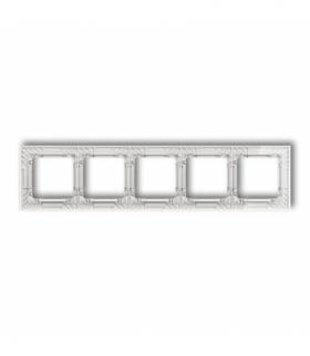 DECO Ramka uniwersalna pięciokrotna transparentna DECO Art - efekt szkła (ramka transparentna spód biały) Transparentny Karlik 5