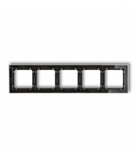 DECO Ramka uniwersalna pięciokrotna transparentna DECO Art - efekt szkła (ramka transparentna spód czarny) Transparentny Karlik