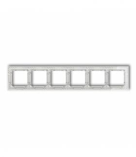 DECO Ramka uniwersalna sześciokrotna transparentna DECO Art - efekt szkła (ramka transparentna spód biały) Transparentny Karlik