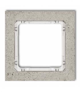 DECO Ramka uniwersalna pojedyncza - beton (ramka jasnoszara spód biały) Jasnoszary Karlik 27-0-DRB-1