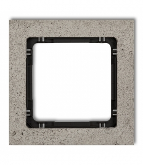 DECO Ramka uniwersalna pojedyncza - beton (ramka jasnoszara spód czarny) Jasnoszary Karlik 27-12-DRB-1