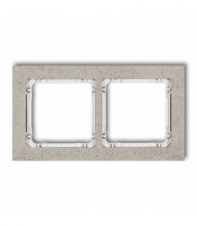 DECO Ramka uniwersalna podwójna - beton (ramka jasnoszara spód biały) Jasnoszary Karlik 27-0-DRB-2