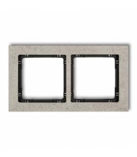 DECO Ramka uniwersalna podwójna - beton (ramka jasnoszara spód czarny) Jasnoszary Karlik 27-12-DRB-2