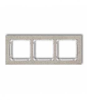 DECO Ramka uniwersalna potrójna - beton (ramka jasnoszara spód biały) Jasnoszary Karlik 27-0-DRB-3