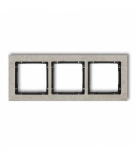 DECO Ramka uniwersalna potrójna - beton (ramka jasnoszara spód czarny) Jasnoszary Karlik 27-12-DRB-3