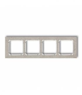 DECO Ramka uniwersalna poczwórna - beton (ramka jasnoszara spód biały) Jasnoszary Karlik 27-0-DRB-4