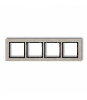 DECO Ramka uniwersalna poczwórna - beton (ramka jasnoszara spód czarny) Jasnoszary Karlik 27-12-DRB-4