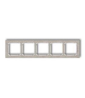 DECO Ramka uniwersalna pięciokrotna - beton (ramka jasnoszara spód biały) Jasnoszary Karlik 27-0-DRB-5