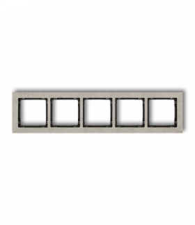 DECO Ramka uniwersalna pięciokrotna - beton (ramka jasnoszara spód czarny) Jasnoszary Karlik 27-12-DRB-5