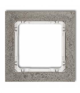 DECO Ramka uniwersalna pojedyncza - beton (ramka ciemnoszary spód biały) Ciemnoszary Karlik 28-0-DRB-1
