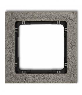 DECO Ramka uniwersalna pojedyncza - beton (ramka ciemnoszary spód czarny) Ciemnoszary Karlik 28-12-DRB-1