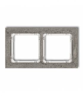DECO Ramka uniwersalna podwójna - beton (ramka ciemnoszary spód biały) Ciemnoszary Karlik 28-0-DRB-2