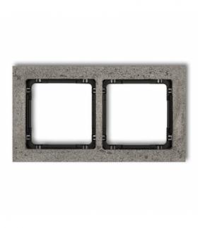 DECO Ramka uniwersalna podwójna - beton (ramka ciemnoszary spód czarny) Ciemnoszary Karlik 28-12-DRB-2