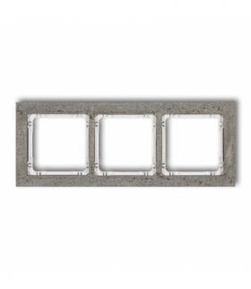 DECO Ramka uniwersalna potrójna - beton (ramka ciemnoszary spód biały) Ciemnoszary Karlik 28-0-DRB-3